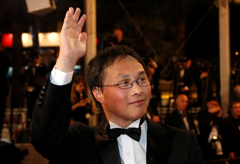 "Japan director Koji Fukada arrives on red carpet for the screening of the film ""Harmonium"" (Fuchi Ni Tatsu) in competition for ""Un Certain Regard"" at the 69th Cannes Film Festival in Cannes"